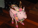 krinkles rose the flying pig ornament