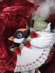 krinkles tin chickadee ornament