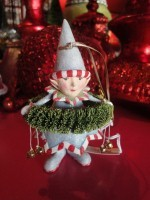 krinkles dasher's wreath elf ornament