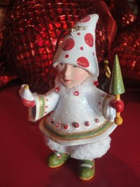 krinkles blitzen's tree elf ornament