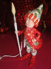 krinkles vixen's painter elf ornament