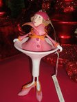 krinkles cosmopolitan girl ornament
