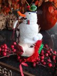 kissing fish holiday snowman