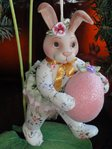 Katherine's Collection  chintz bunny c