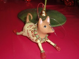 krinkles joyful chihuahua ornament
