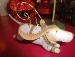 krinkles joyful basset ornament