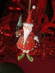 krinkles mini  dash away santa ornament