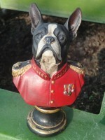boston terrier statue