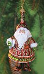 krinkles peaceful santa glas ornament