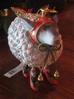 krinkles blanche white sheep ornament