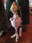 krinkles petal rose wine girl ornament