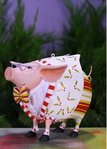 krinkles norbert dressed up pig ornament