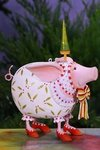 krinkles nanette dressed up pig ornament