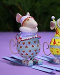krinkles dash away sking mice girl ornament